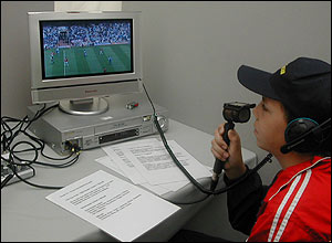 Boy in the commentary booth