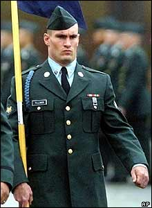 Pat Tillman serving in the US army