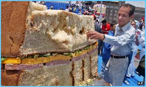 The monster sandwich in Mexico City