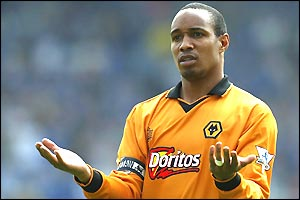 Wolves' captain Paul Ince looks dejected as his side draw 2-2 with Birmingham