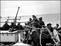 British troops on landing craft