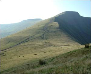 Len and Kath Griffin sent in this shot of of Pen y fan and Corn Ddu on the way back from Cribyn