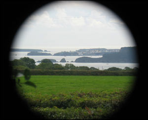 Graeme Johnson took this picture of Tenby from about 8 miles away by holding his camera up to a pair of binoculars