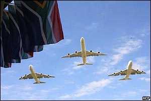 South African Airways fly-past