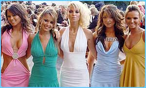Girls Aloud were a new entry at number two