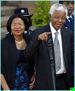 and former South African President Nelson Mandela and his wife also attended the Presidential inauguration