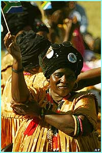 Traditional South African dancers performed at the ceremony too.