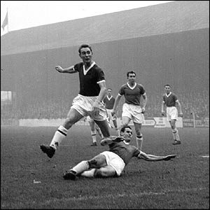 Brian Clough scores for Middlesbrough