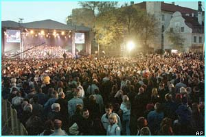 And in Latvia hundreds of people celebrated during a gala We Are In Europe concert.