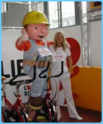 Tess Daly and Bob The Builder at the launch