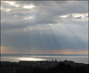 Student Will Spencer took this shot of Aberystwyth from the window of his hall of residence