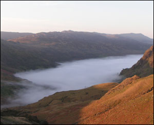 Ann Jones from Bangor captured the mist above Llyn Gwynant early on Sunday morning