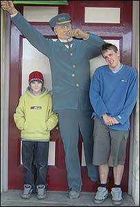 Ben and Toby at Barry Island Steam Railway Centre (John Parker, Cardiff)