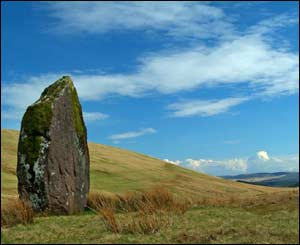 The bronze age standing stone Maen Llia, north of Ystradfellte in the Brecon Beacons (Gerwyn Gibbs)