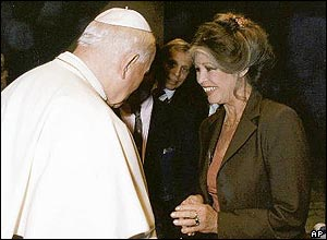 Pope John Paul II and Brigitte Bardot