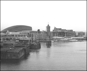 This view of Cardiff Bay was taken from St David's Hotel by Michael Yearsley