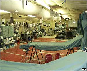 Handout photo from US military showing operating theatre inside Abu Ghraib