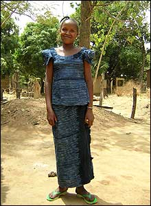 Fatoumata Ba, from Laba, models her favourite Thioub dress.