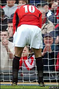 Frustration for Ruud van Nistelrooy