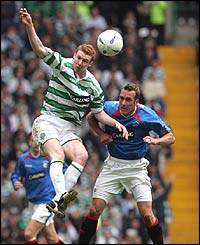 Celtic's Stephen Pearson and Rangers' Fernando Ricksen