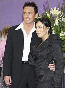 EastEnders' Jessie Wallace with fiance Dave Morgan