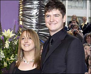 Natalie Cassidy with fellow EastEnders actor James Alexandrou