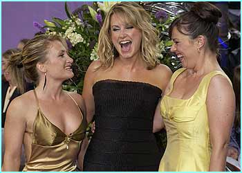 The EastEnders girls looked like they were up for a good night out at the awards ceremony