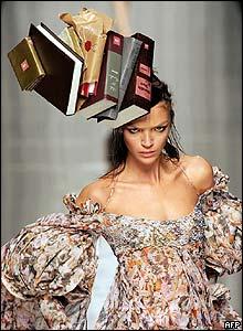 A model wears an Antonio Berardi creation at Milan fashion week