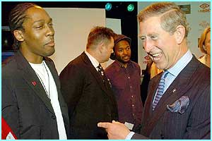 Prince Charles met up with the performers, including Lemar, at a rehearsal before the festival weekend