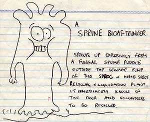 A sprine bloat-trunker