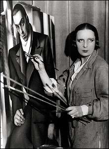 De Lempicka's studio in Place Wagram c. 1924, by Constantin Stiffter