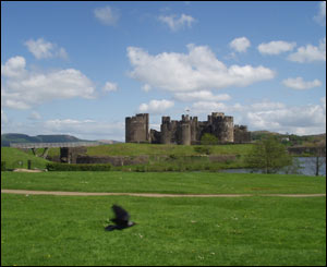 Stewart Coxe, originally from Cardiff, likes his picture of Caerphilly Castle