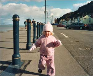 Mark Clatworthy's daughter Holly May going for a run in Mumbles