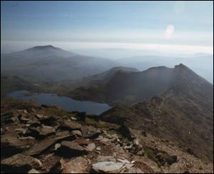 Pryderi Hughes took time to take this picture of Snowdon on his way down from the summit