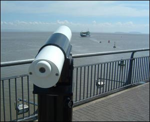 A telescope in Cardiff Bay, as taken by Anthony Santorro