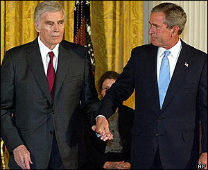 Image result for charlton heston and george w bush