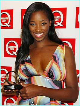 Pop babe Jamelia won Best Single at the Q Awards, held in London on Monday