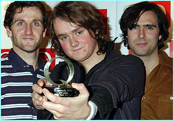 Indie trio Keane won Best Album for Hopes and Fears, but the Red Hot Chili Peppers won Best Act in the World today