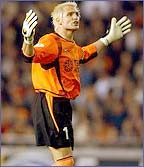 Santiago Canizares is Schmeichel's number one