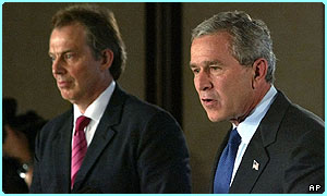 Prime Minister Tony Blair and President George W. Bush
