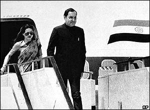 Sonia and Rajiv Gandhi in 1985