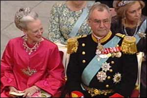 Queen Margrethe and Prince Henrik.
