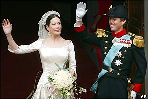 Denmark's Crown Prince Frederik and Australian bride Mary Elizabeth Donaldson