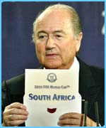 Sepp Blatter announces the result