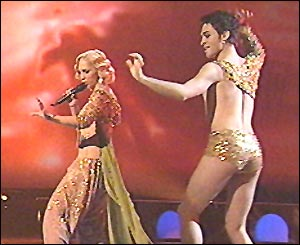 Turkey's first Eurovision winner, Sertab Erener, opens the 2004 Eurovision song contest from Istanbul.