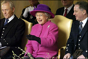 The Riding goes by and the Queen is clearly amused by something in the 1,000-strong processio
