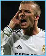 David Beckham was sent off for Real Madrid