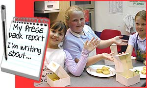 Laura, Charlotte and Rachel at their after-school club