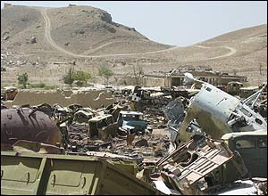 A typical war debris littered landscape which has remained unchanged for nearly quarter of a century.