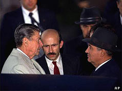 Mr Reagan and Mr Gorbachev